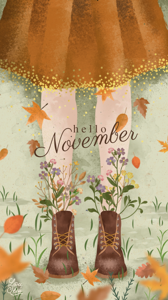 A Little Gift for You: - Tomorrow is November! Hooray! I have a feeling it's going to be the best month of our lives! Here is a little gift to celebrate! I found this super cute iPhone background on Pinterest. It's from French travel blogger Lou Seni and you can download it as a background for your phone or calendar for your desktop. Isn't it the perfect dose of Autumn Whimsy? Downloads available here.