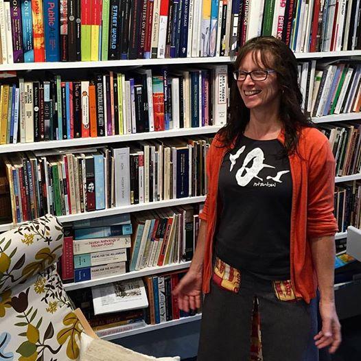 Julie Poitras Santos in her studio. Photo: Mitchell Rasor.