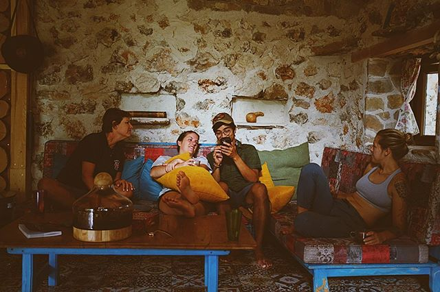 Antalya, Day 2: Look who made it to the crag! Our little cabin is full of friends now. Slow mornings, sweat-filled afternoons, and long, long nights. Hangs like this should never end.
