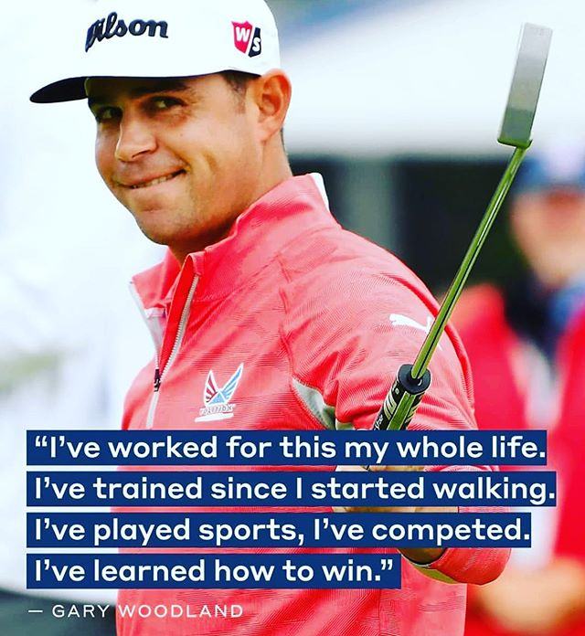 Wow, what a performance by @gary.woodland at the @usopengolf this weekend! On the back 9, during his final round Sunday, he had some moments with tons of pressure. Yet, he was able to excel and hold on for the win.  After the tournament was over I was watching post tournament interviews and this quote really caught my eye.  Woodland put so much prep work into this tournament that when it came to gutsy shots, 3 wood on 14 or the chip shot off the green on 17, he was ready for the moment. He controlled the his emotions and eventually the outcome of the tournament. It was a pleasure watching someone embrace the pressure like Woodland did!  #WestlakeSportsPerformanceAndFitness