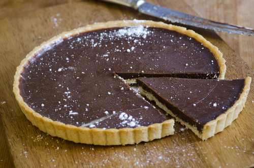 Salted Coconut Chocolate Tart - (Keto / Low Carb)