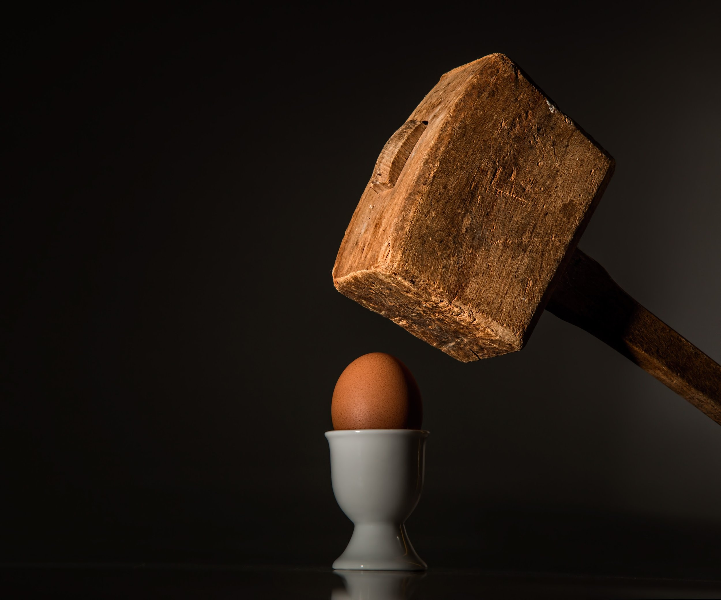 Ideas are like eggs.Once you break them open, you will never get them back in the shell.