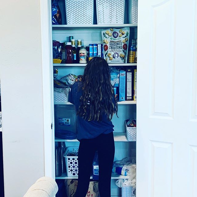Maddie is preparing for school by creating snack packs, organizing the pantry and making brownies for Noah's first day of high school. Grateful for her heart to help others and her gift of organization! I'm excited to start our second year of homeschool which is giving her the confidence to be who God created her to be! ❤️ #sheisakeeper #availableforhire #typeapersonalityforthewin #backtoschool #petrifam #homeschoollife