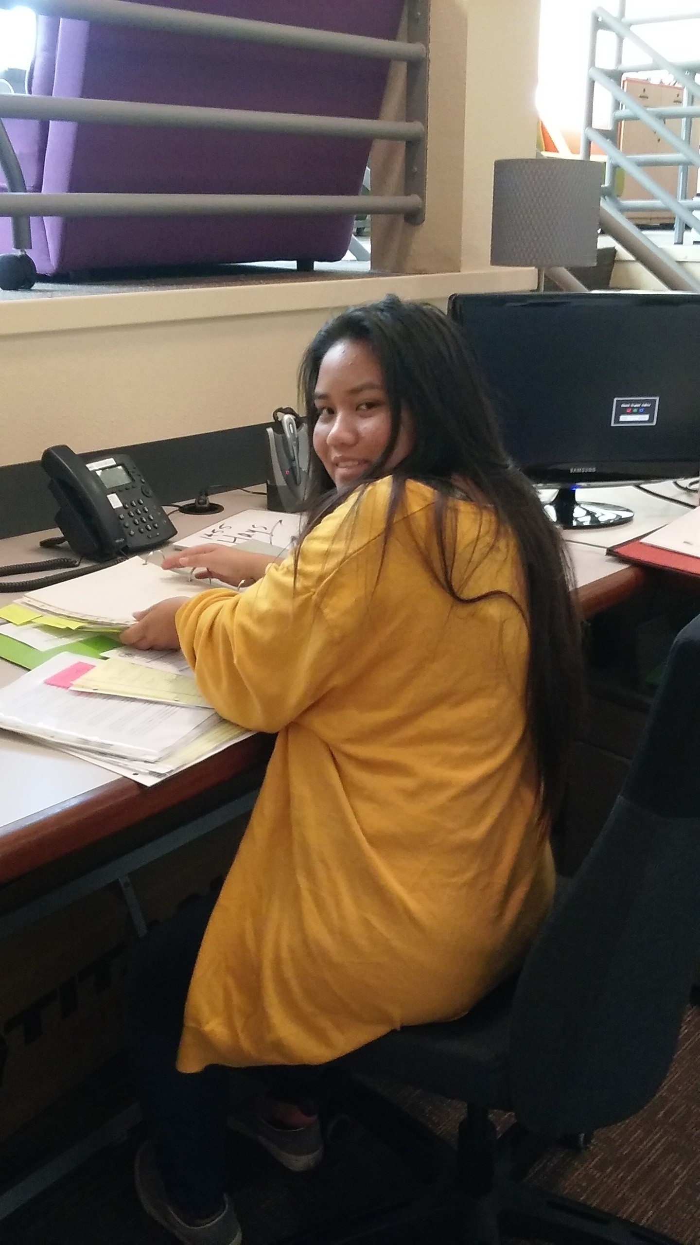 Anjelika organizing a project file