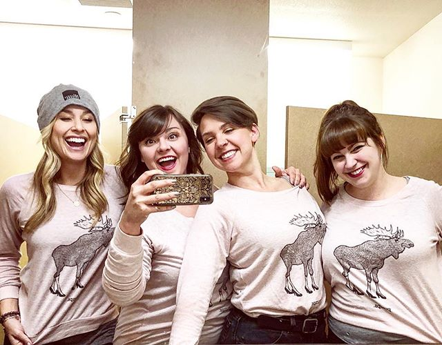 Four arctic squirrels who just slayed a lady improv set #PumpsComedy #improv #besties #alaska #festival #moose