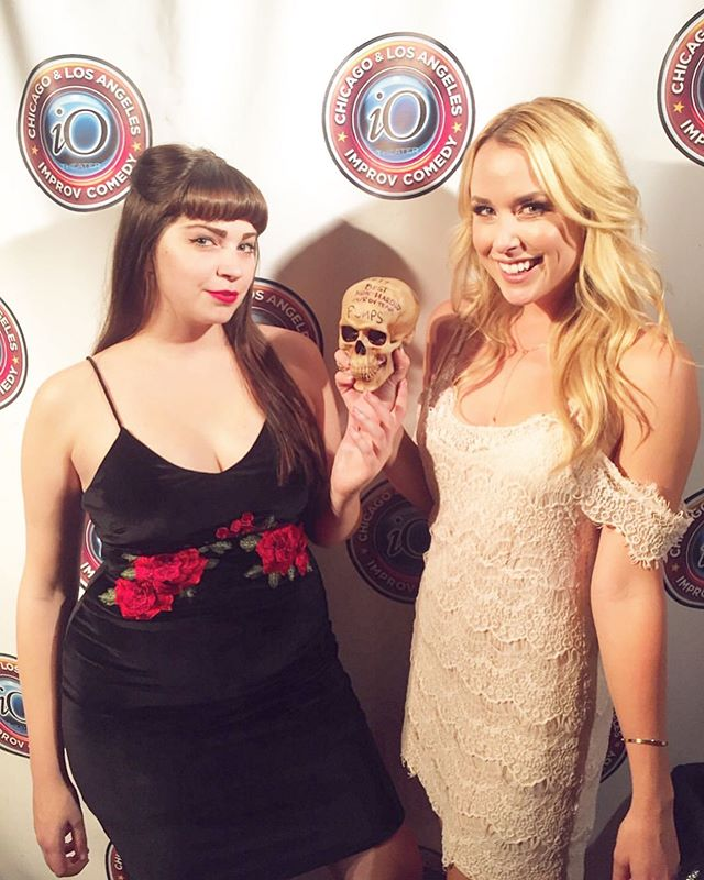 REPOST @missramonahope  Being awarded a plastic skull for being 2017's Best Non-Harold Improv Team at a now defunct comedy theater is still one of my greatest accomplishments. Miss you the most iO. #tbt #fbf