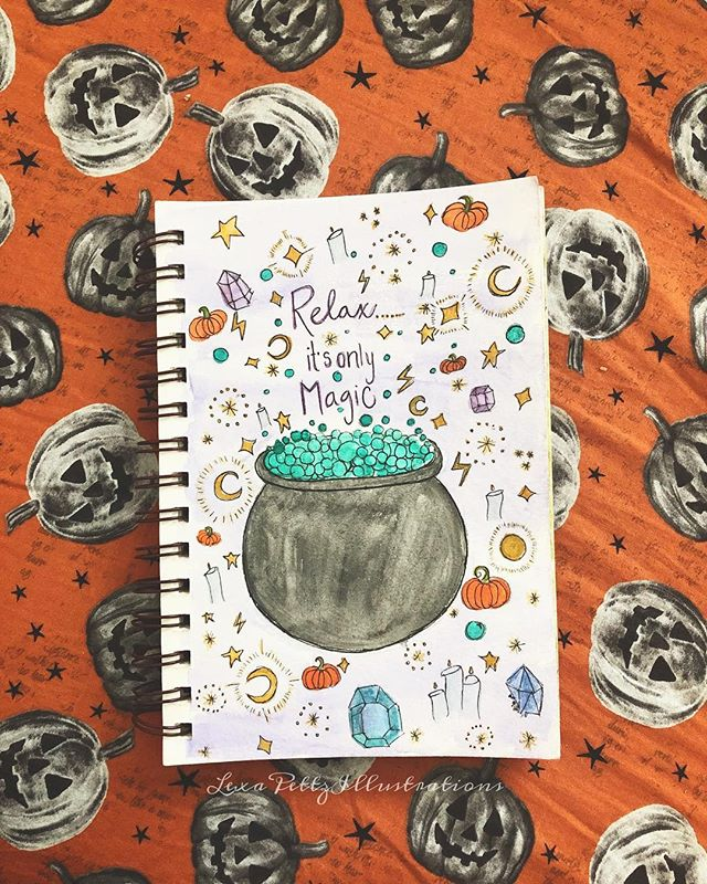 Relax... it's only Magic 🔮✨🖤 • • • • • • • • #autumm#fall#pumpkins#halloween#leaves#instafollow#instahappy#instaphotography#photooftheday#picoftheday#followme#instadaily#instagood#boiseartist#illustration#artist#witchesofinstagram#happyhalloween#photography#follow4follow#love#Witches#magic#happy#boise #autumnlovers#autumntrees#falltrees#pnw