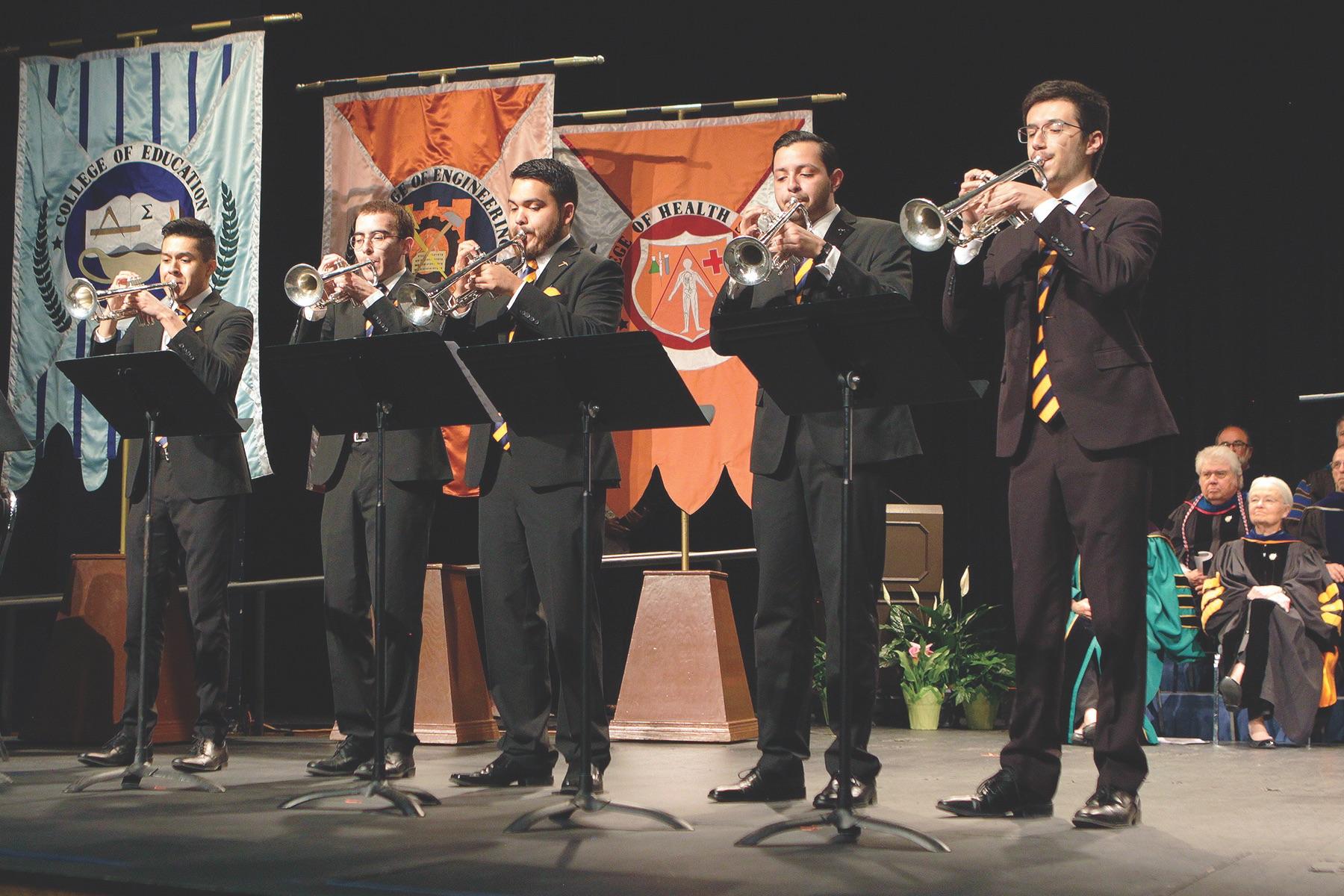 The recipients are, from left:Elijah Ontiveros, Jacob Aun,Pablo Palacios, Isaac Ponce and Paul Reid.