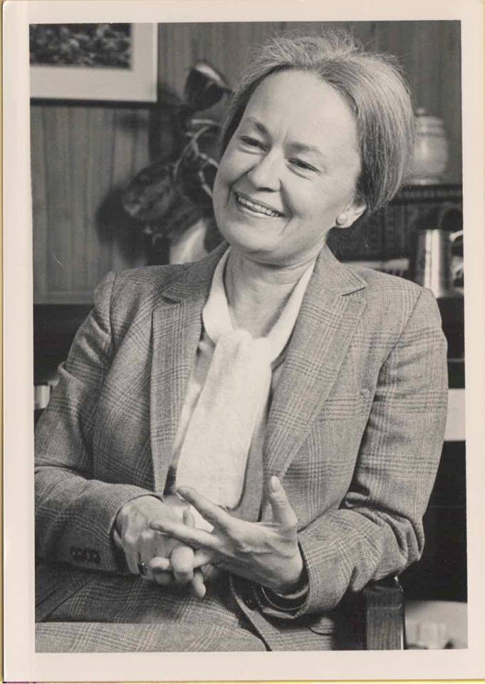 Diana Natalicio sits for an interview in 1988.  Photo by David Flores