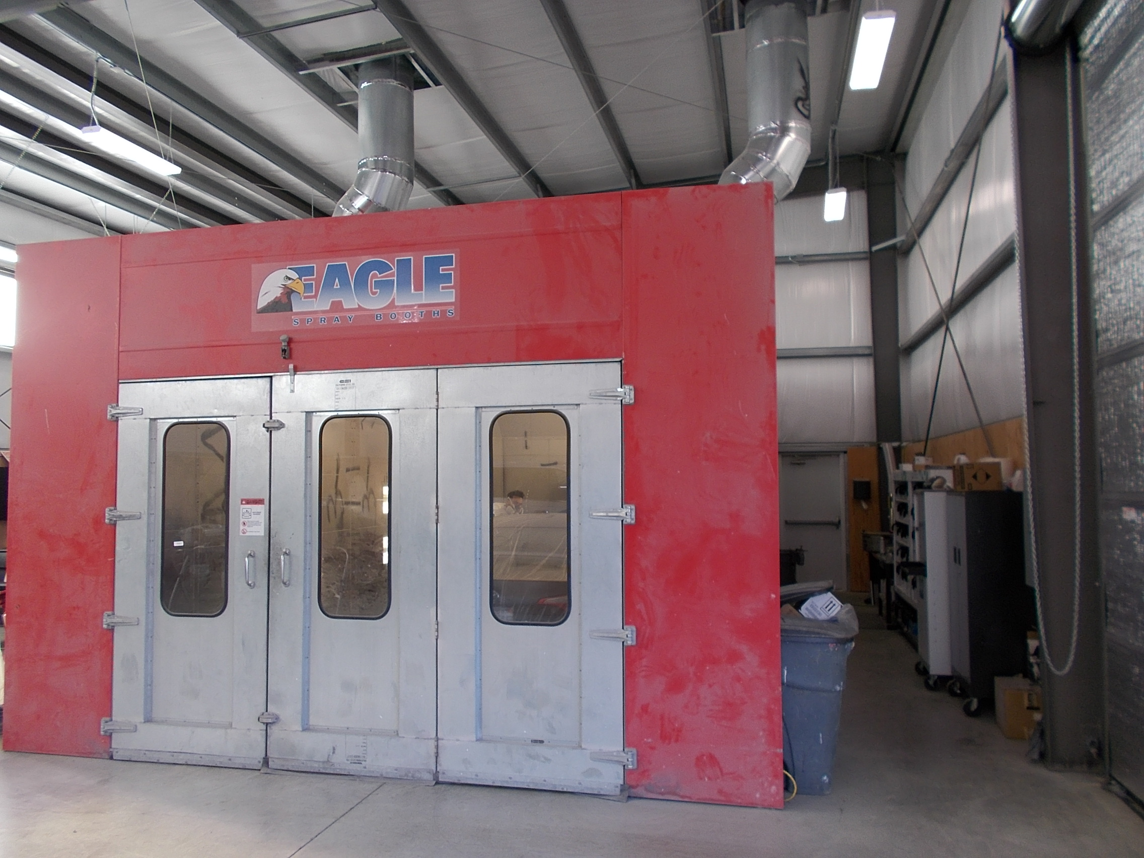 State of the art paint booth