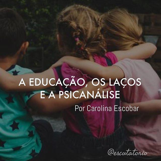 Texto novo da Carolina Escobar já está no site! Qual a relação entre a sexualidade, os laços e a aprendizagem (leitura e escrita) desde a infância e adolescência ? Nossa colunista desenvolve sobre o tema em seu novo texto. Boa leitura !! Link do texto na nossa Bio no Instagram ❤️ . . . #lacan #psicanalise #freud #sexualidade #infancia #educacao #adolescencia