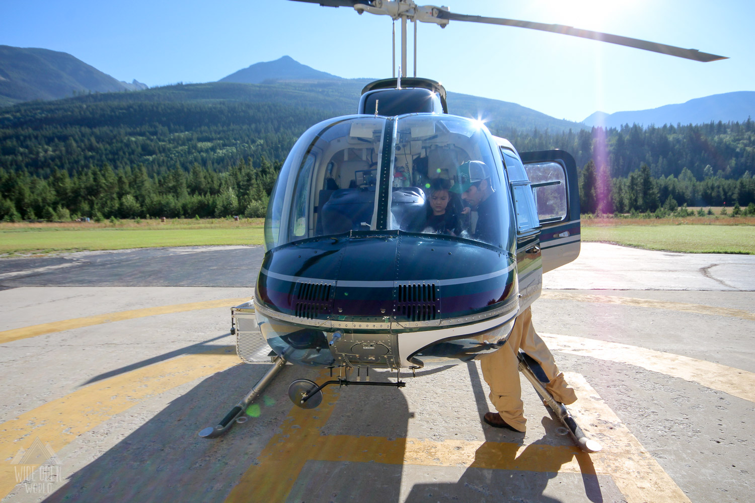 Buckling up with Robson Heli-Magic.