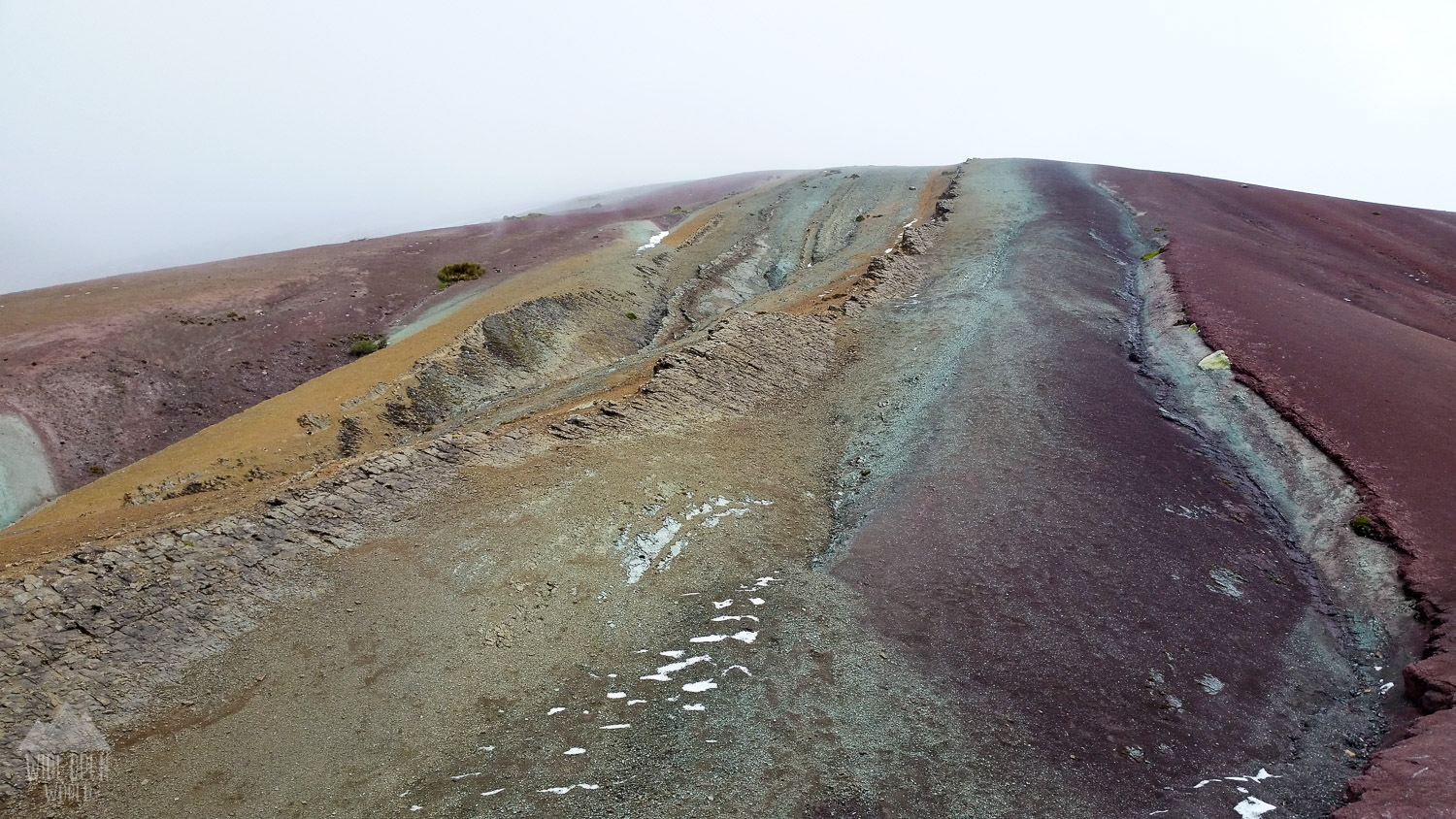 Rainbow Mountain on a Cold Day