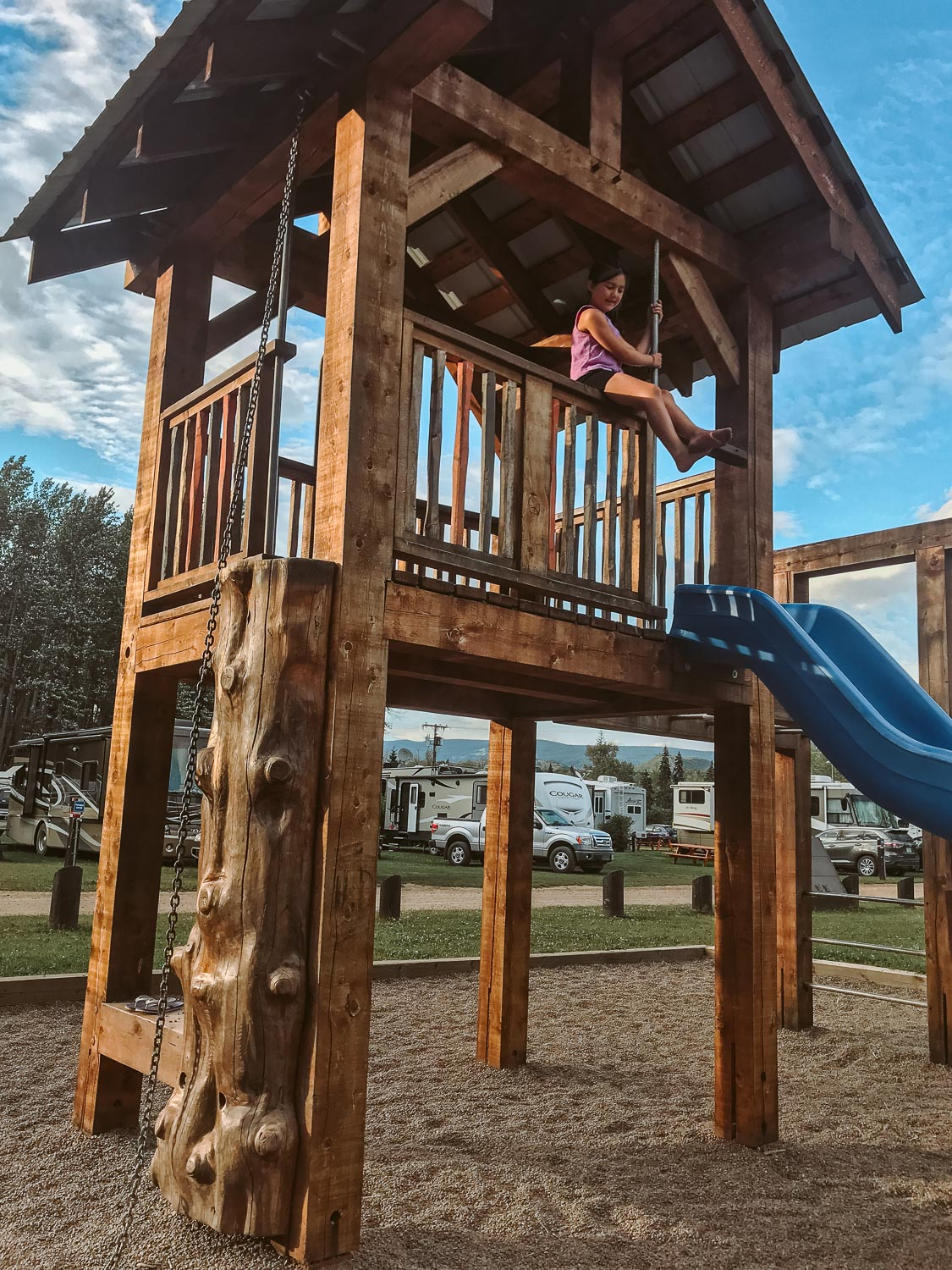 Playground at Riverside RV Park and Camping