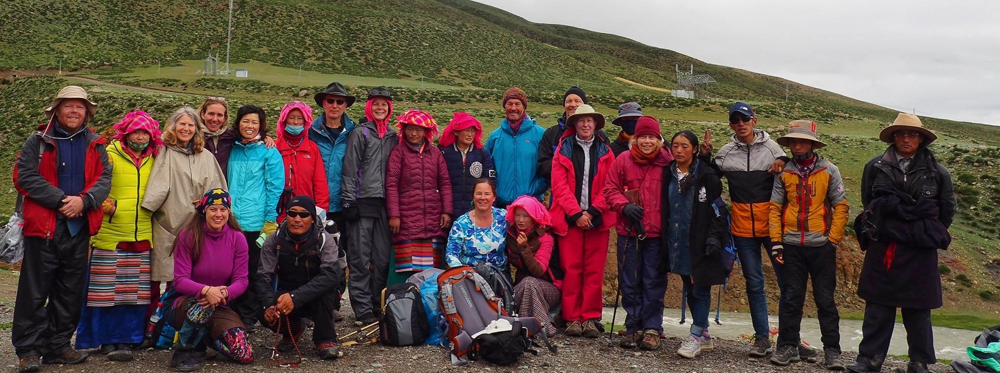 We made it! Our 2017 group, after the 3 day Mt. Kailash circuit. Photo Laura Marchelya.