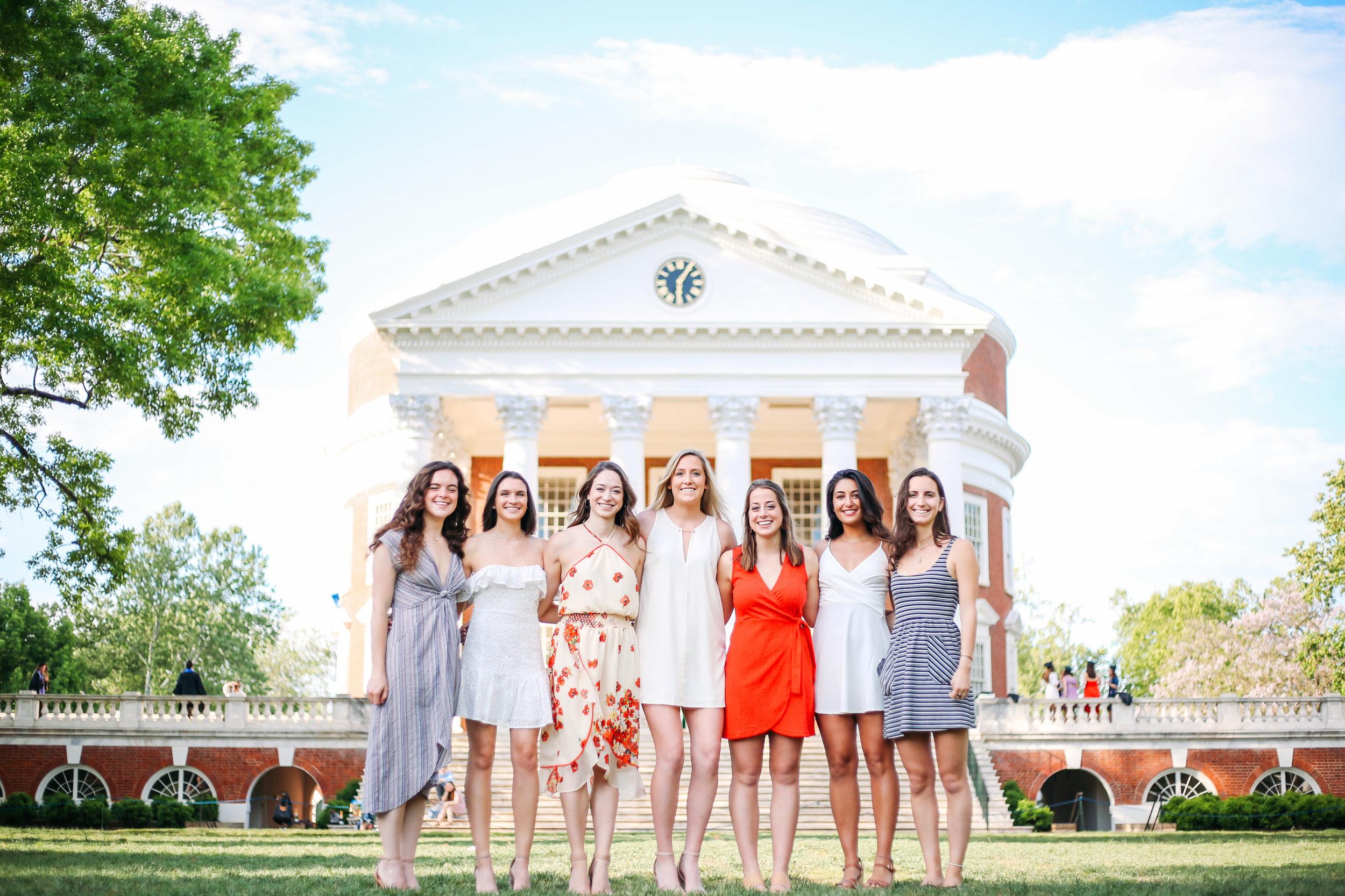Neeka, Claire, Jessica, Ellie, Lauren F., & Lauren A.  Graduation Portraits.