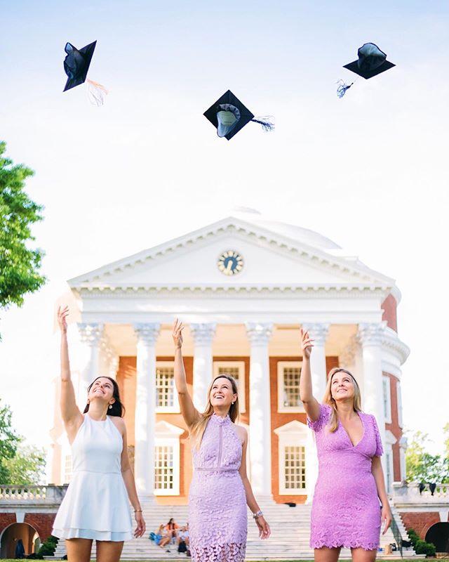 Wheeee 🎓 ⋆ ⋆ ⋆ #photography #photooftheday  #portraitphotography #buildandbloom #portraitsinspire #portraitworld #graduationpictures #uva #uvagrad #wahoowa #accgrad