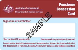 Pensioner Concession Card