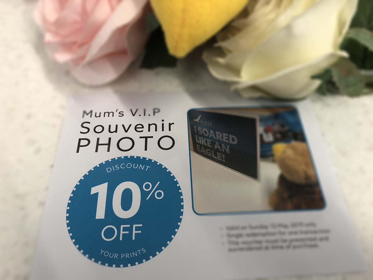 A discount off any souvenir photos taken on Mother's Day