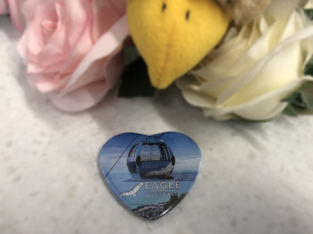 A heart shaped magnet for the fridge so she can remember her great day out.