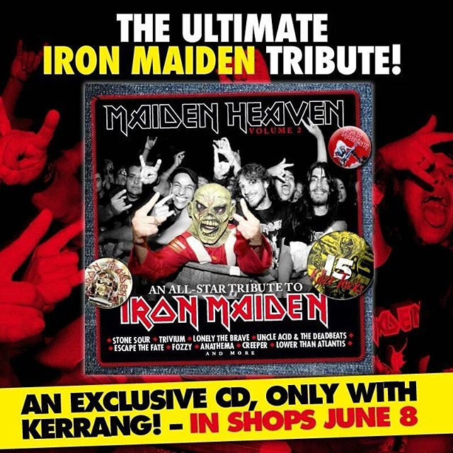 We are featured on this @ironmaiden tribute album exclusively for @kerrangmagazine_ on sale today!  Pick it up!