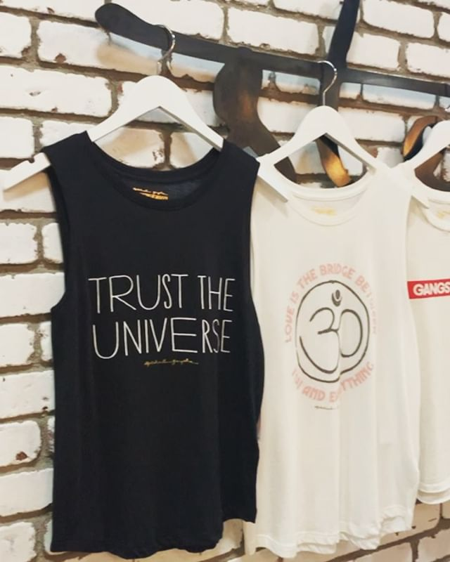 Spread some good vibes by shopping local and checking out our new arrivals from Spiritual Gangster! We can't wait to help you find your perfect style! 💕 #ohheystanley #steeleangel #spiritualgangster #yogabrand
