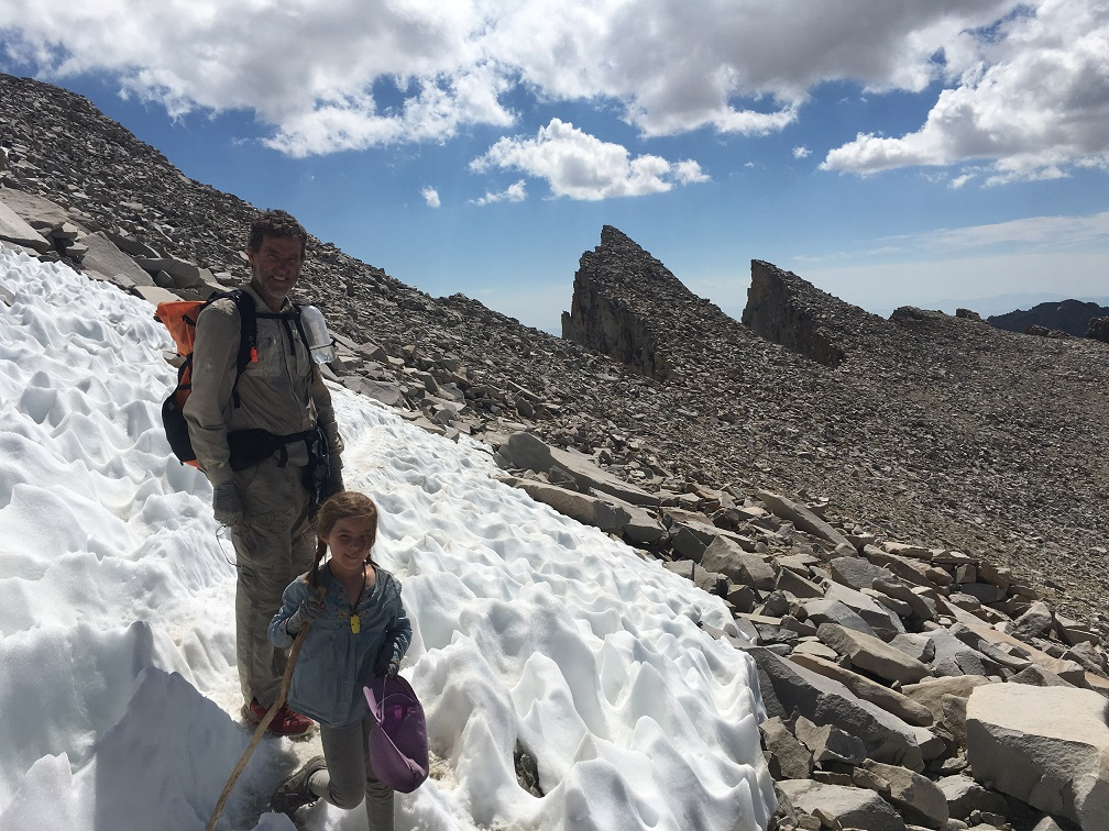 On the way to the top of Mt. Whitney.