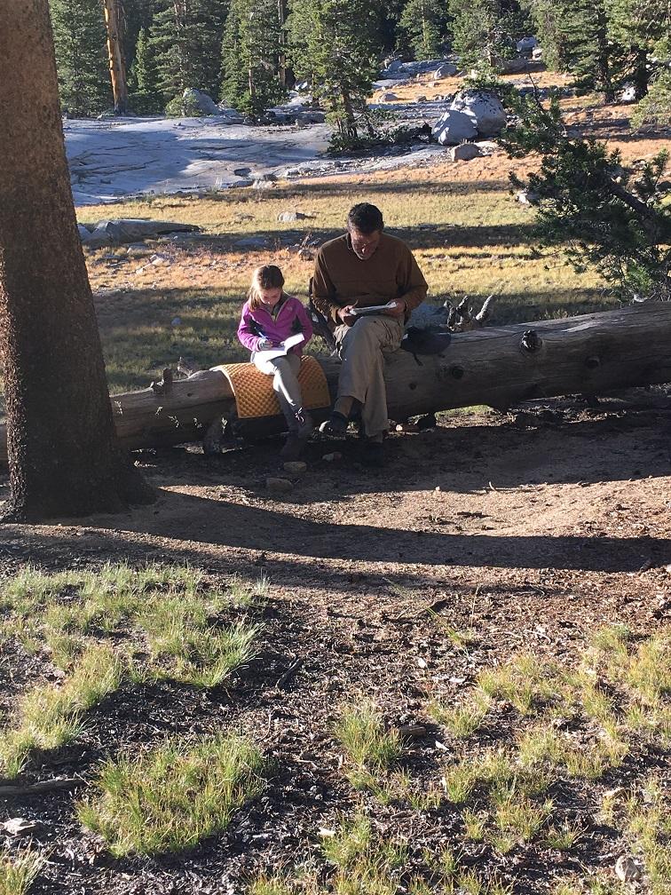 A quiet moment at camp.
