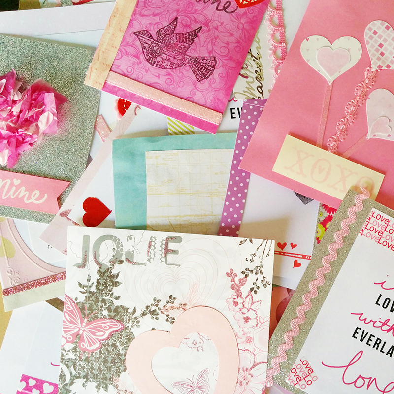 Valentine Cards given to WEAVE