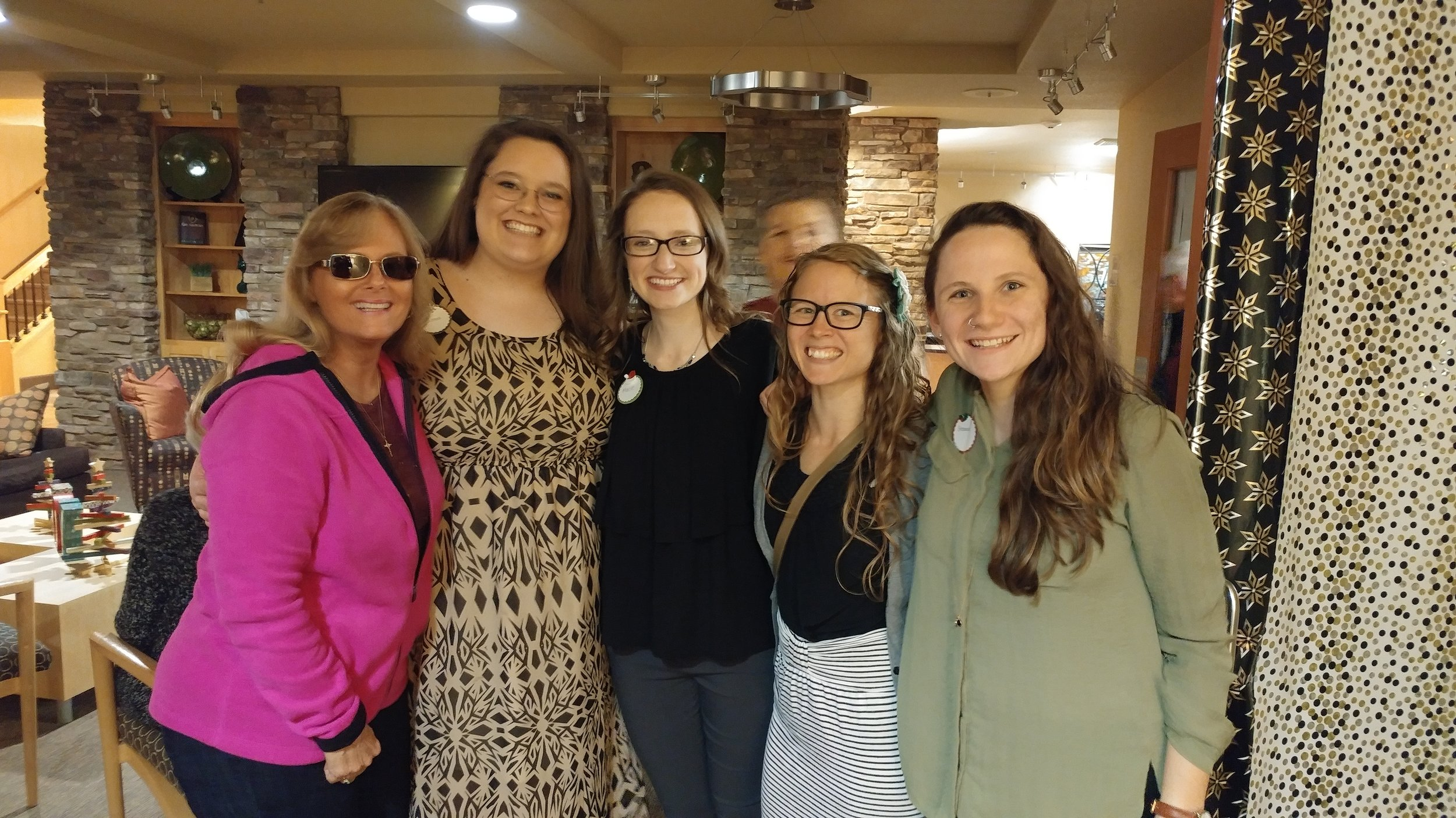 My mama and me, along with some of the amazing ladies from Mercy Multiplied.