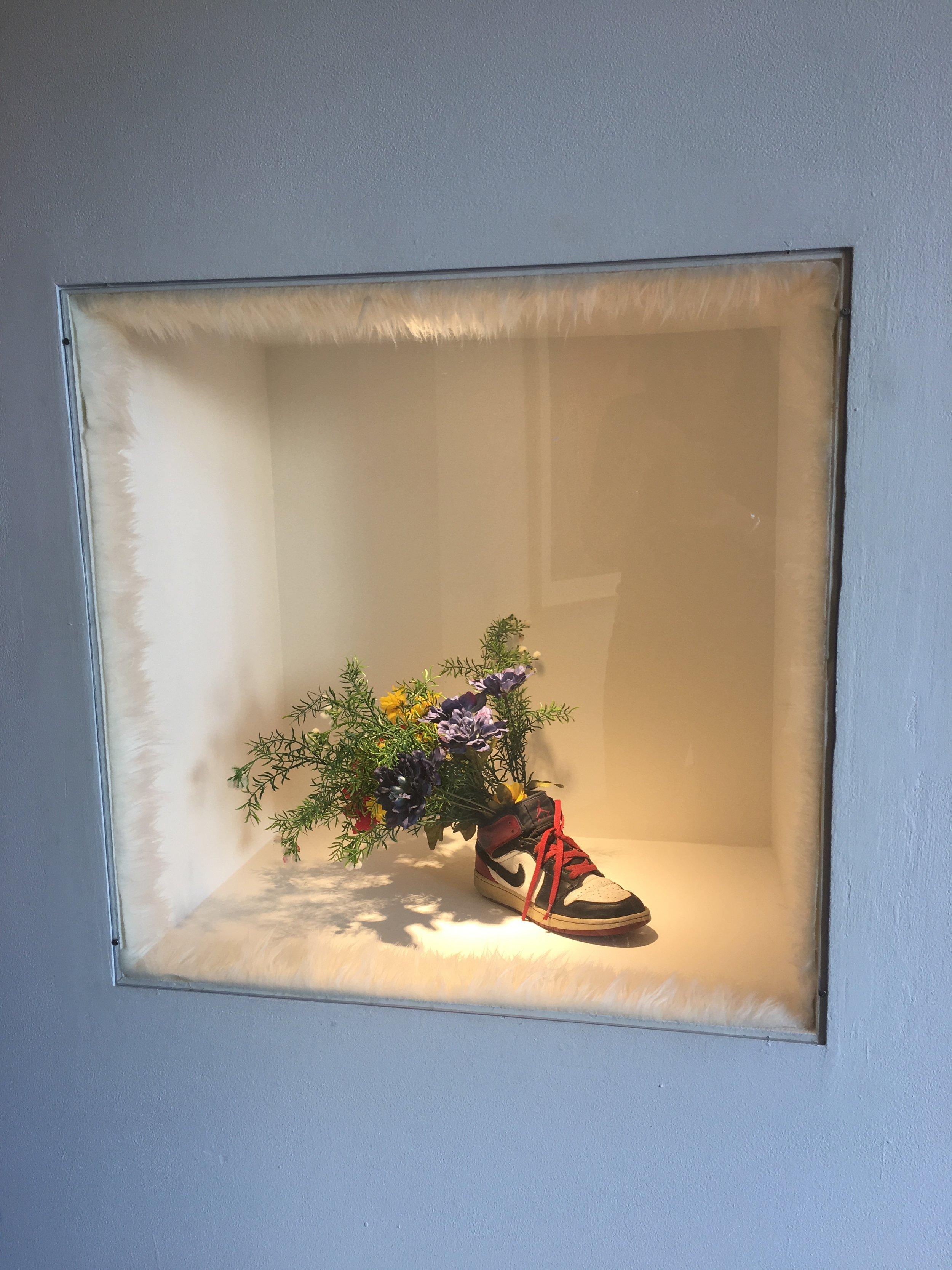 Daydreaming  (installation detail) by  Uzumaki Cepeda at the LA Craft & Folk Art Museum .