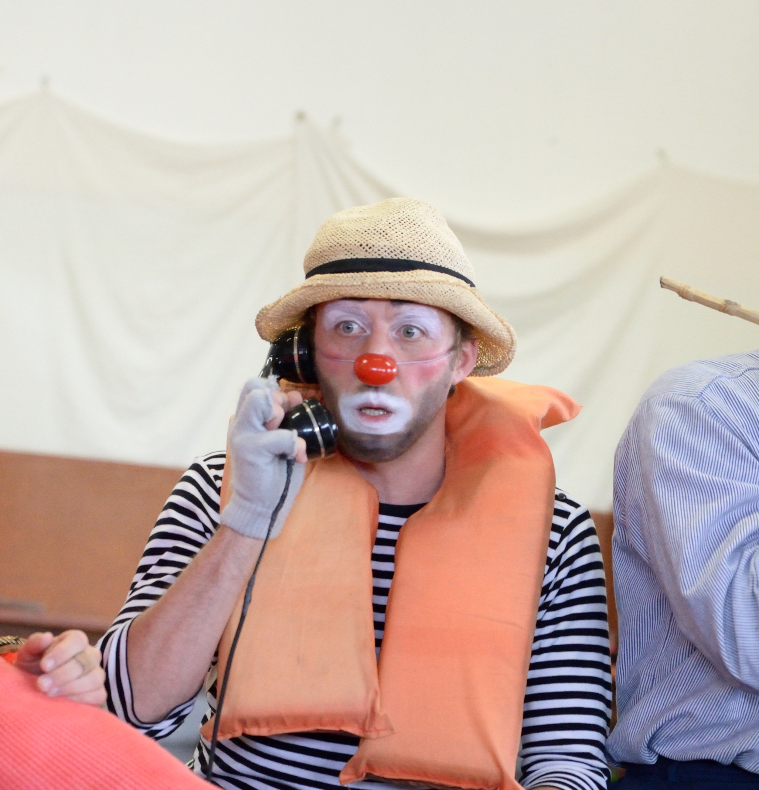 Clown on the phone
