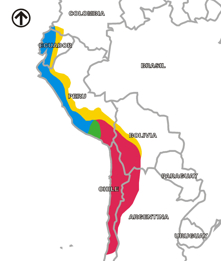 The Inca Empire (Source:  Wikimedia Commons )
