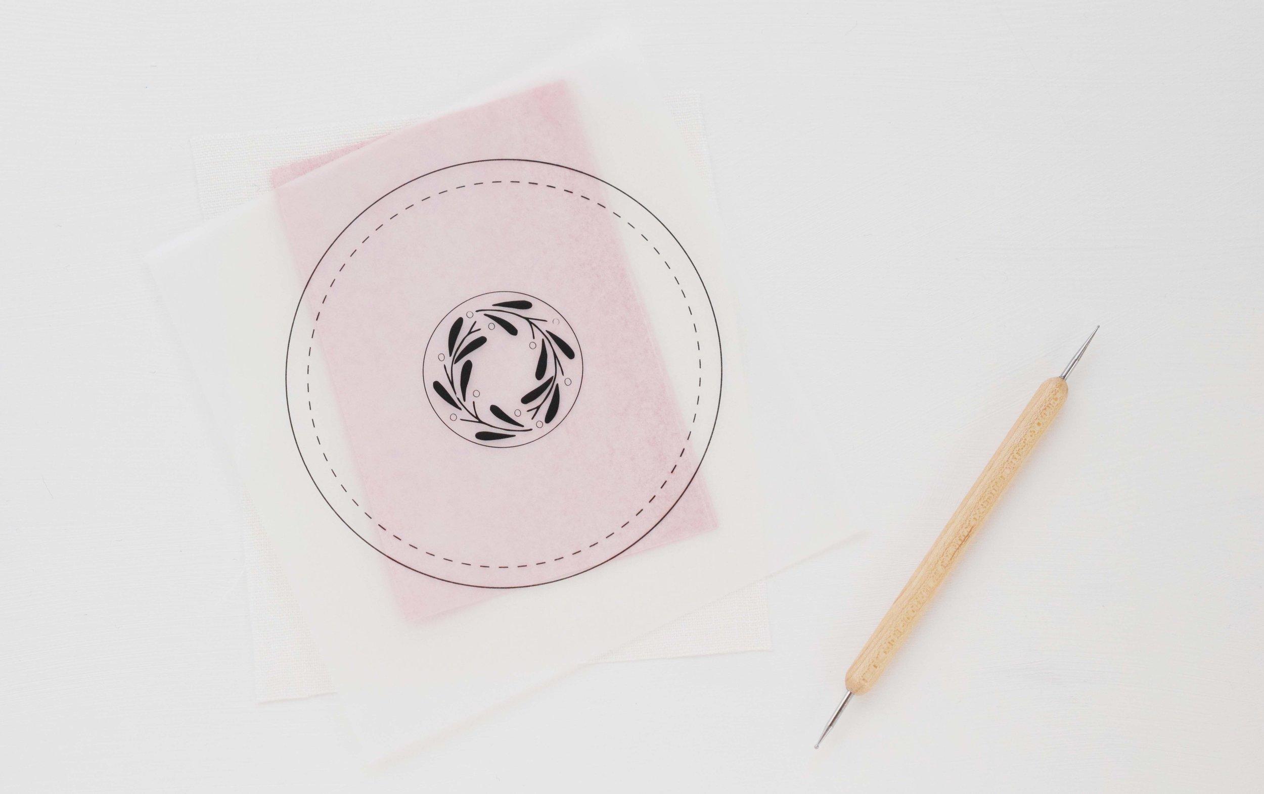 図案の写し方 刺繍 初めて