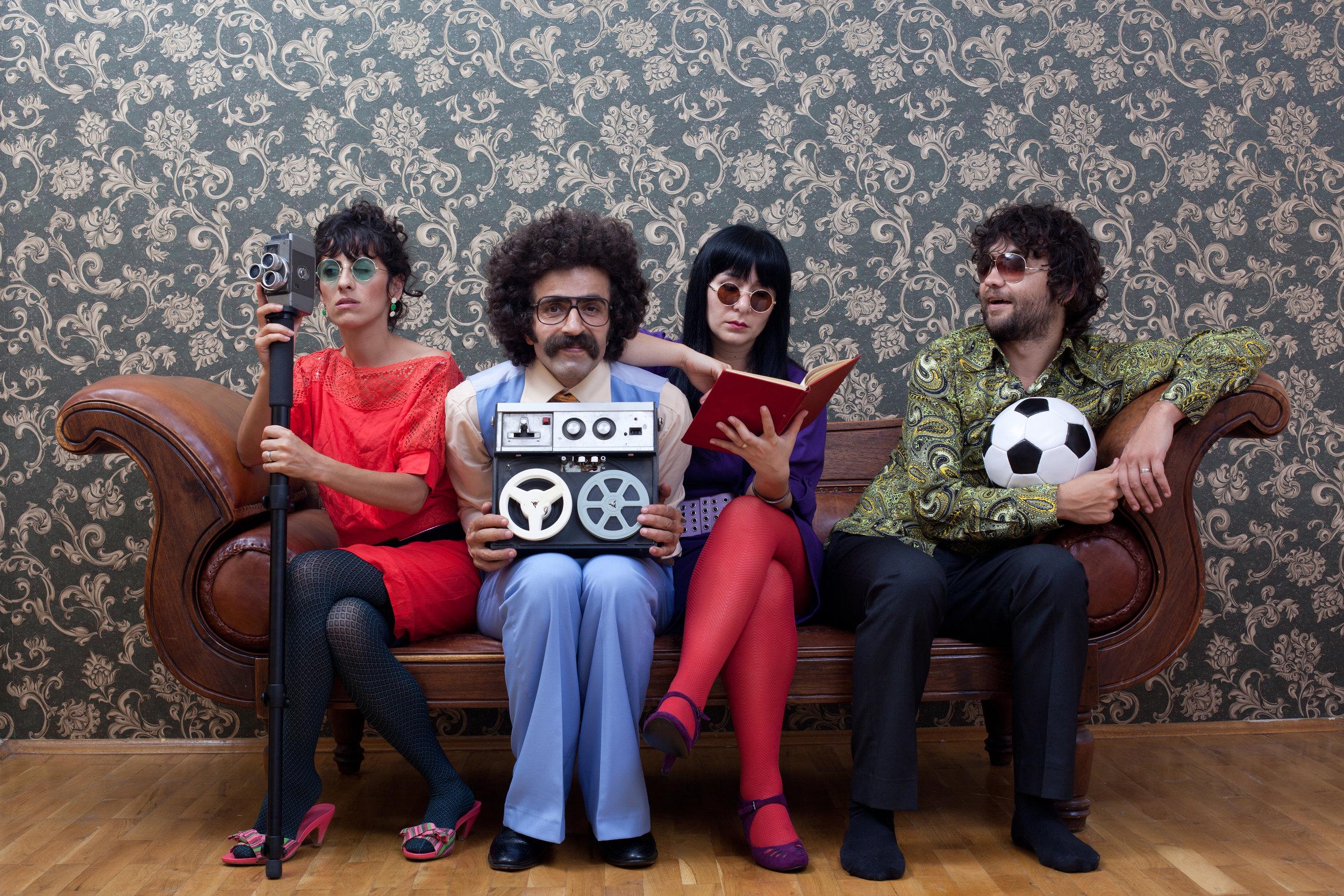 People on sofa
