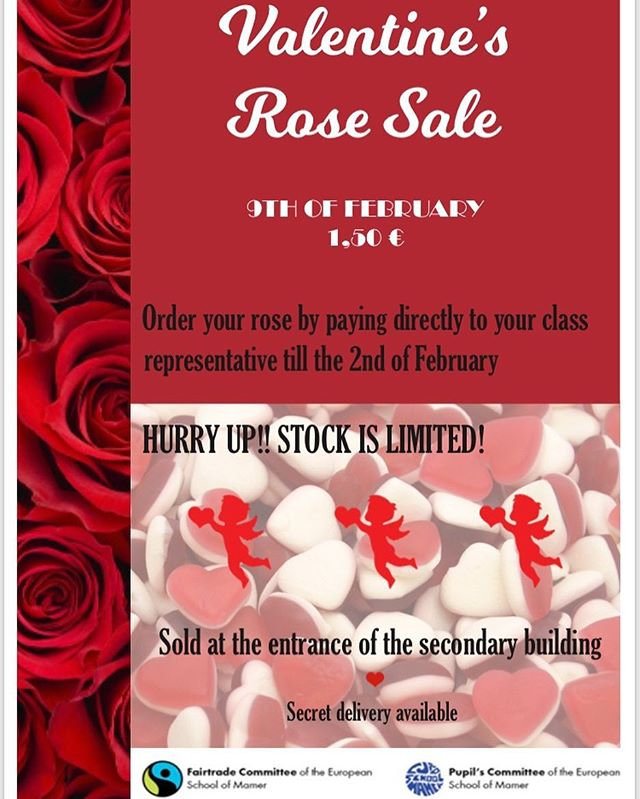 It's that time of the year again 🤩 contact your class rep or send us a dm for more information 🌹all profits will go to charity