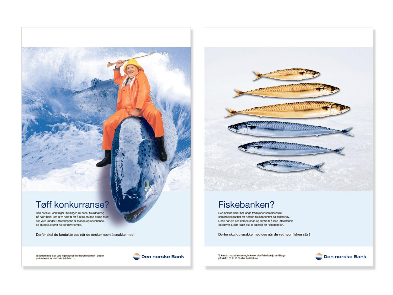 DnB Full page ads, Bergen, 2003. Client: M&M. Copy: René Rønshof