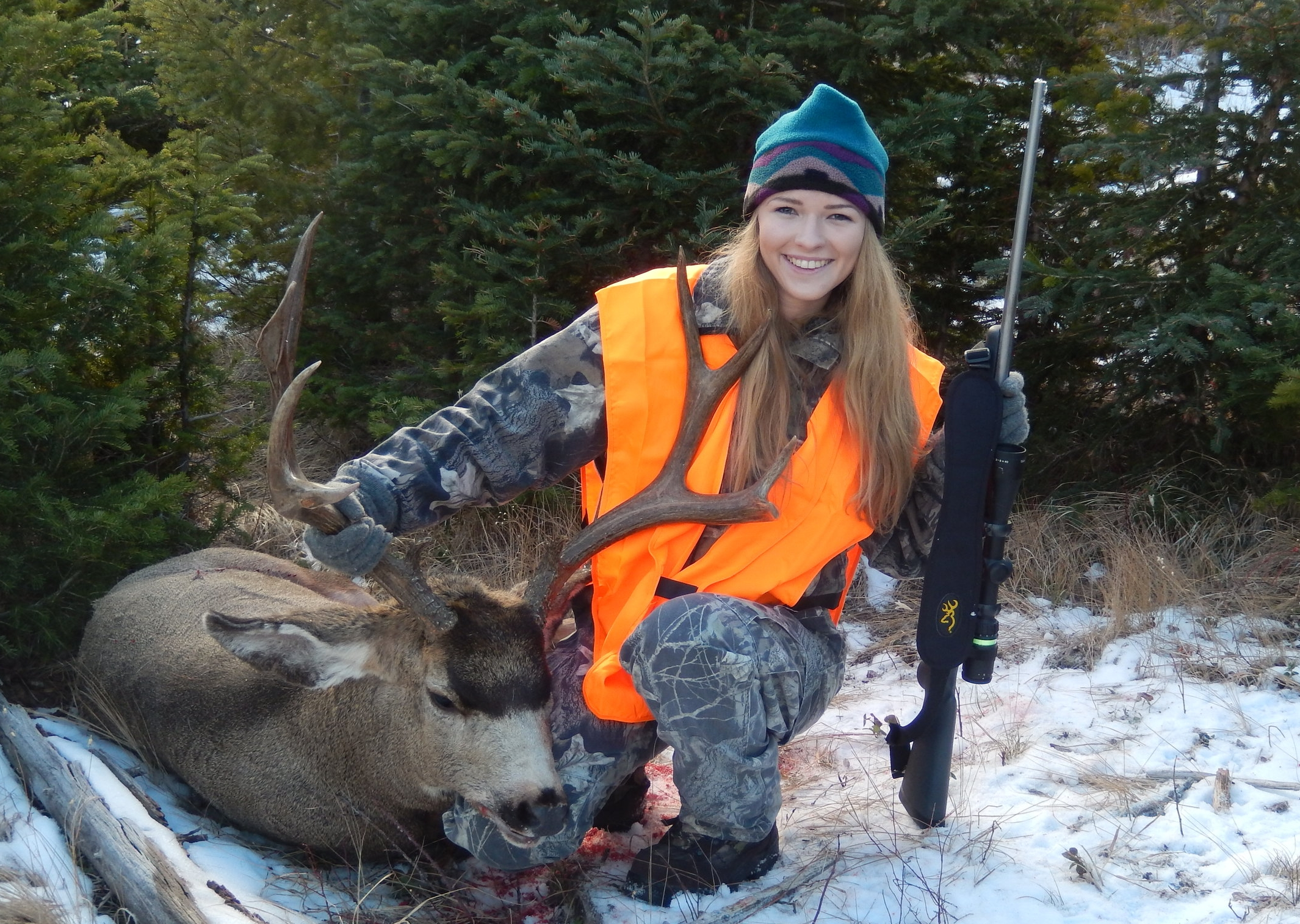 Meagan Robinson 's first deer, November 2016