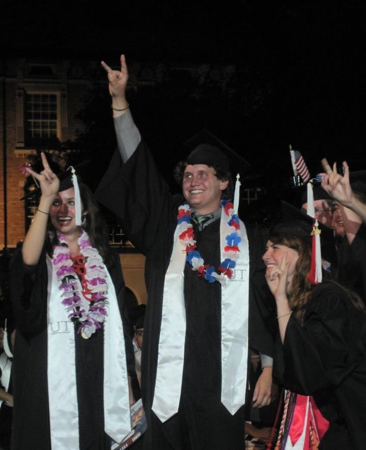 I was selected as one of three students from thirty nominations to represent the 8,000 or so members of the Class of 2011.  Pictured: me and some of my friends I made freshman year in the honors dorms.