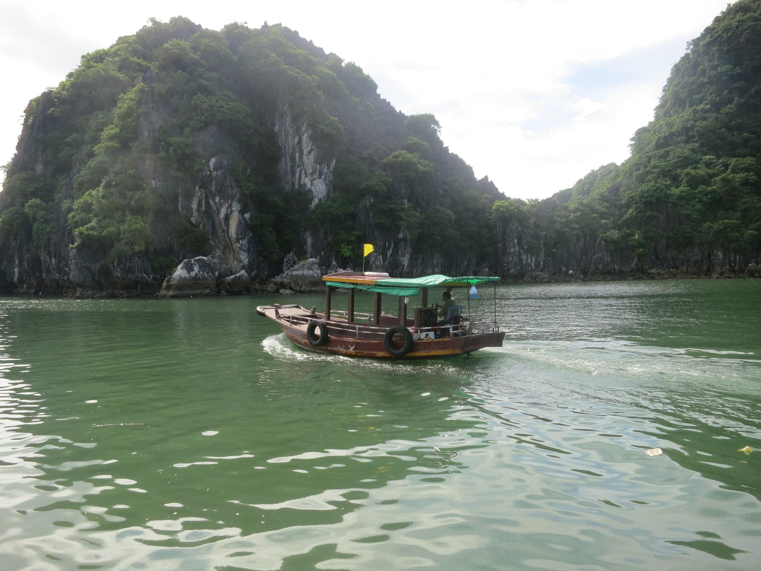 """Junk boat"" in Ha Long Bay, Vietnam"