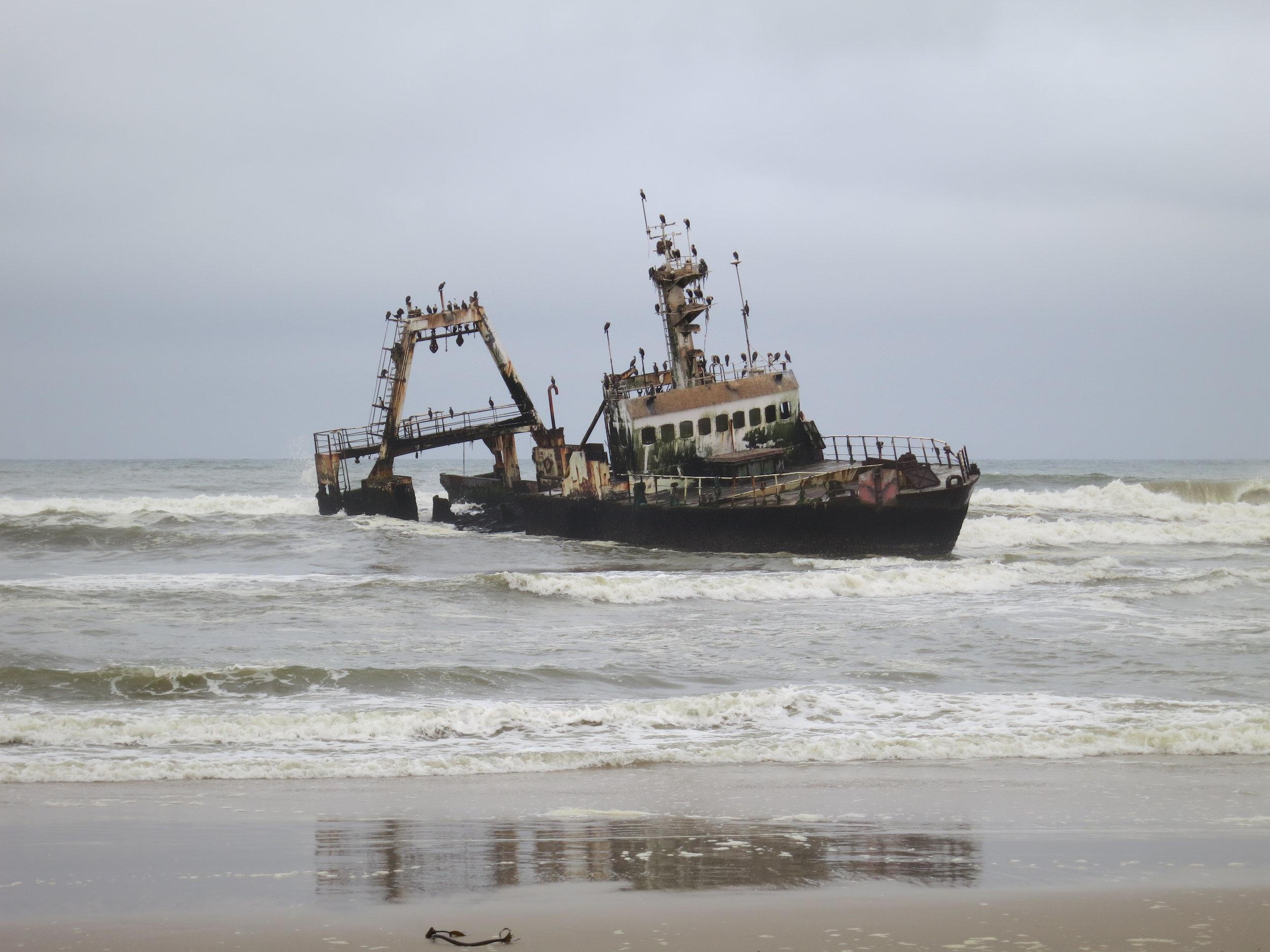 Recent shipwreck - Skeleton Coast, Namibia