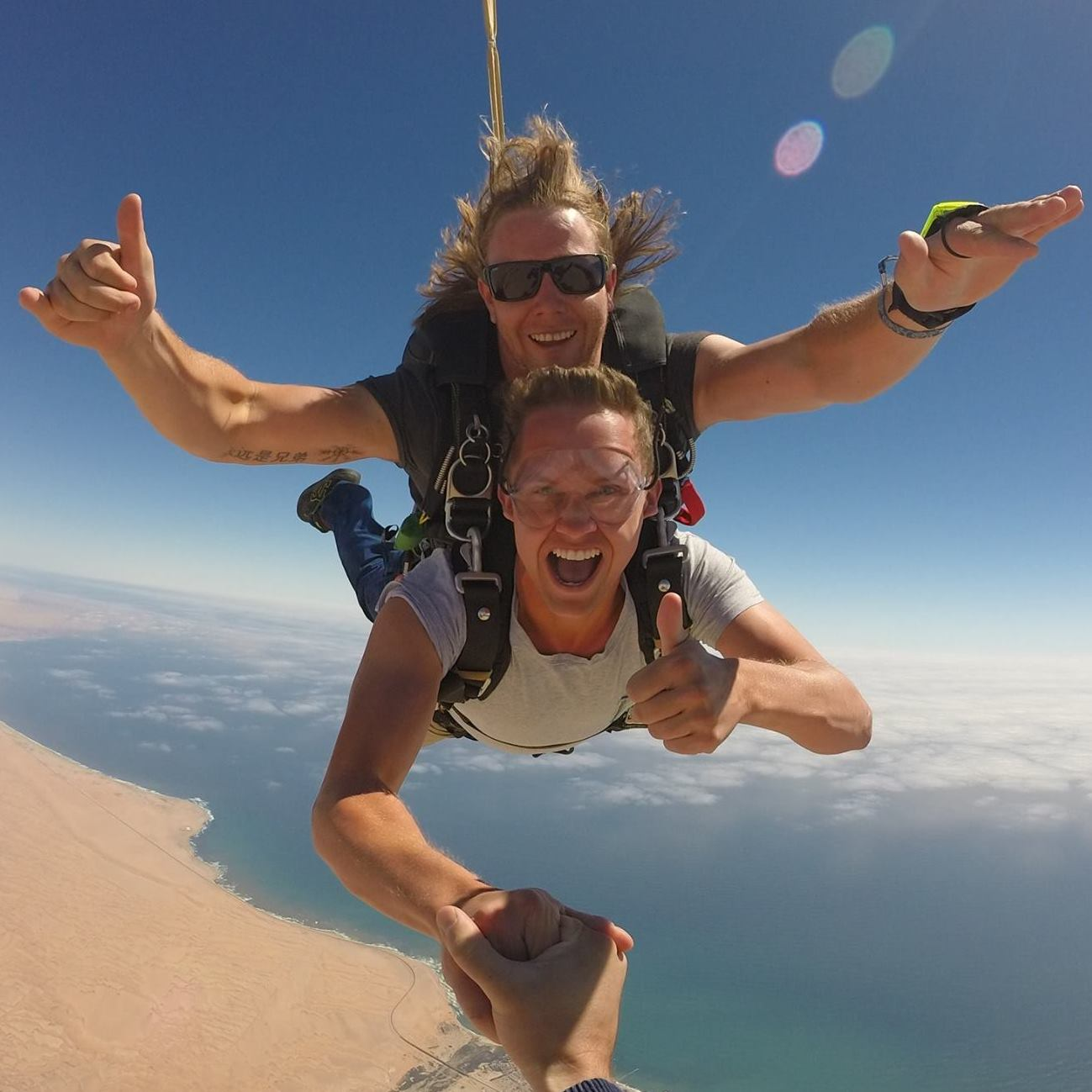 Skydiving near the set of Mad Max: Fury Road - Swakopmund, Namibia