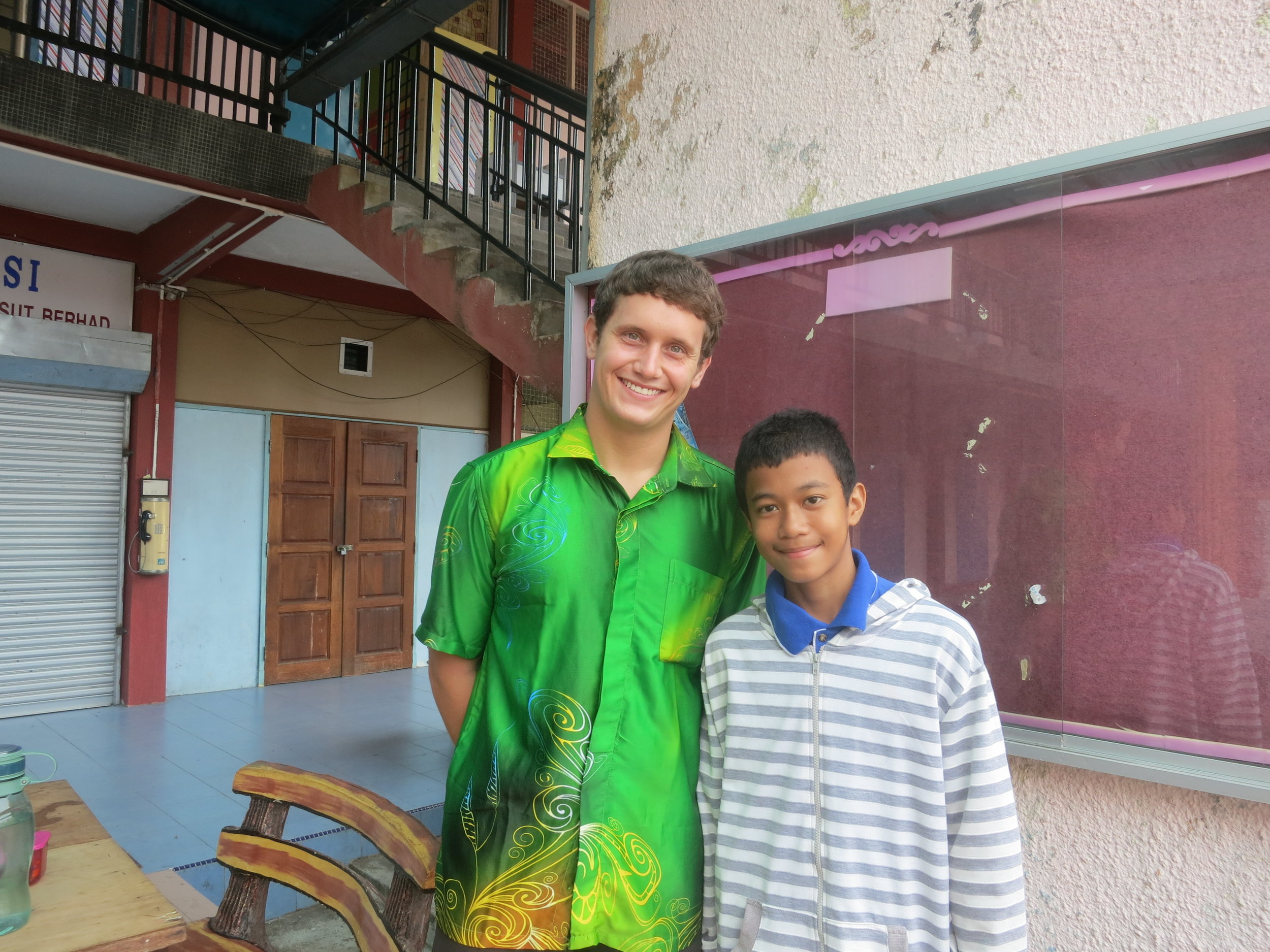 One of my favorite Malaysian students, Muaz.