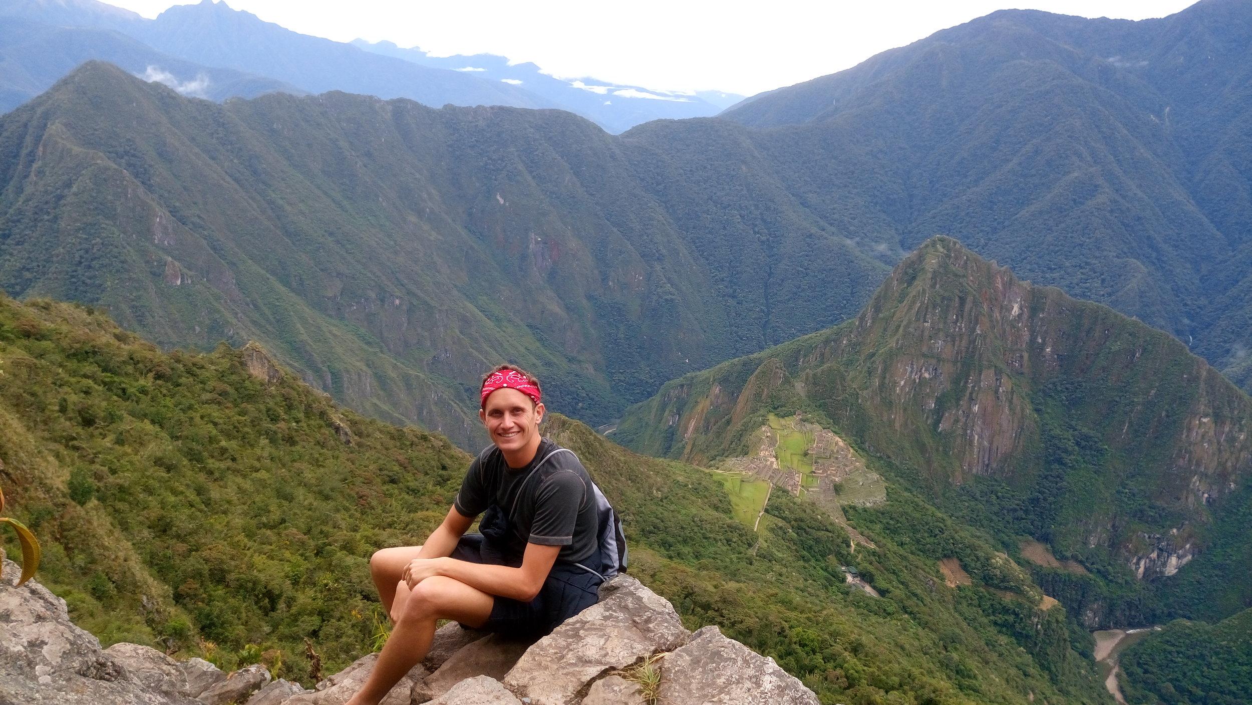 View from La Montana at Macchu Picchu