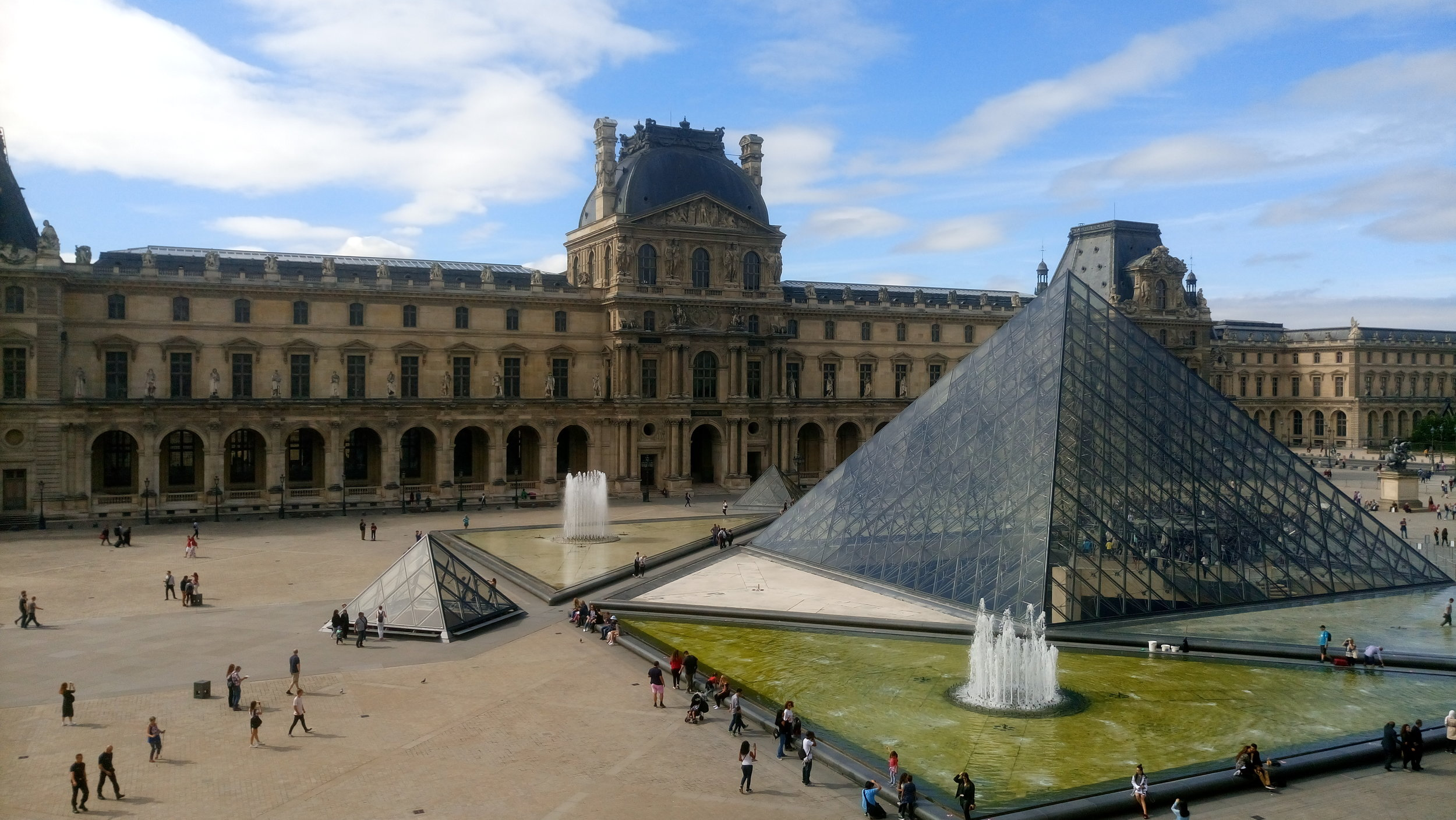 Early morning at the Louvre, Paris