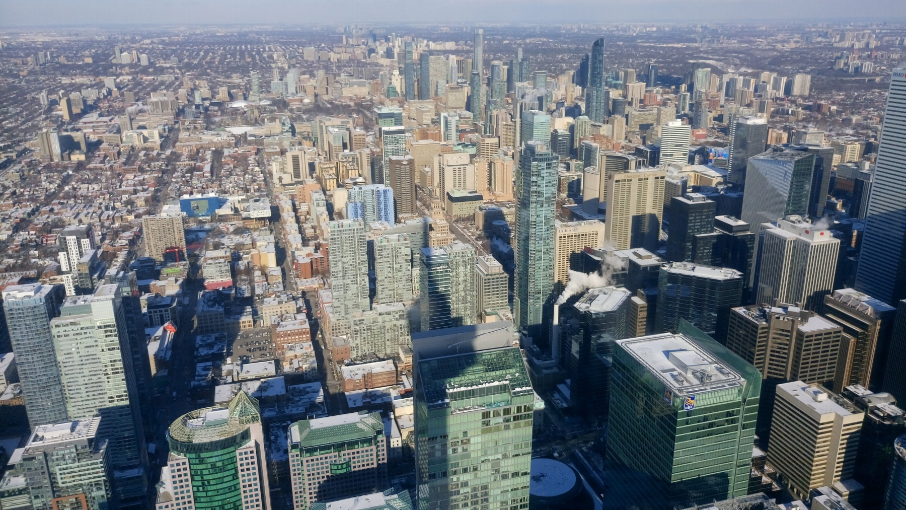 Downtown Toronto from the CN Tower