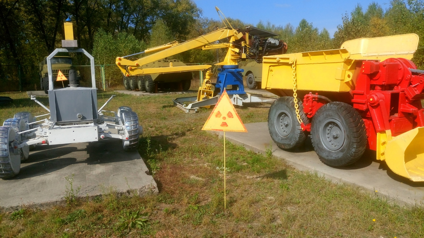 Cleanup machines at the Chernobyl Exclusion Zone