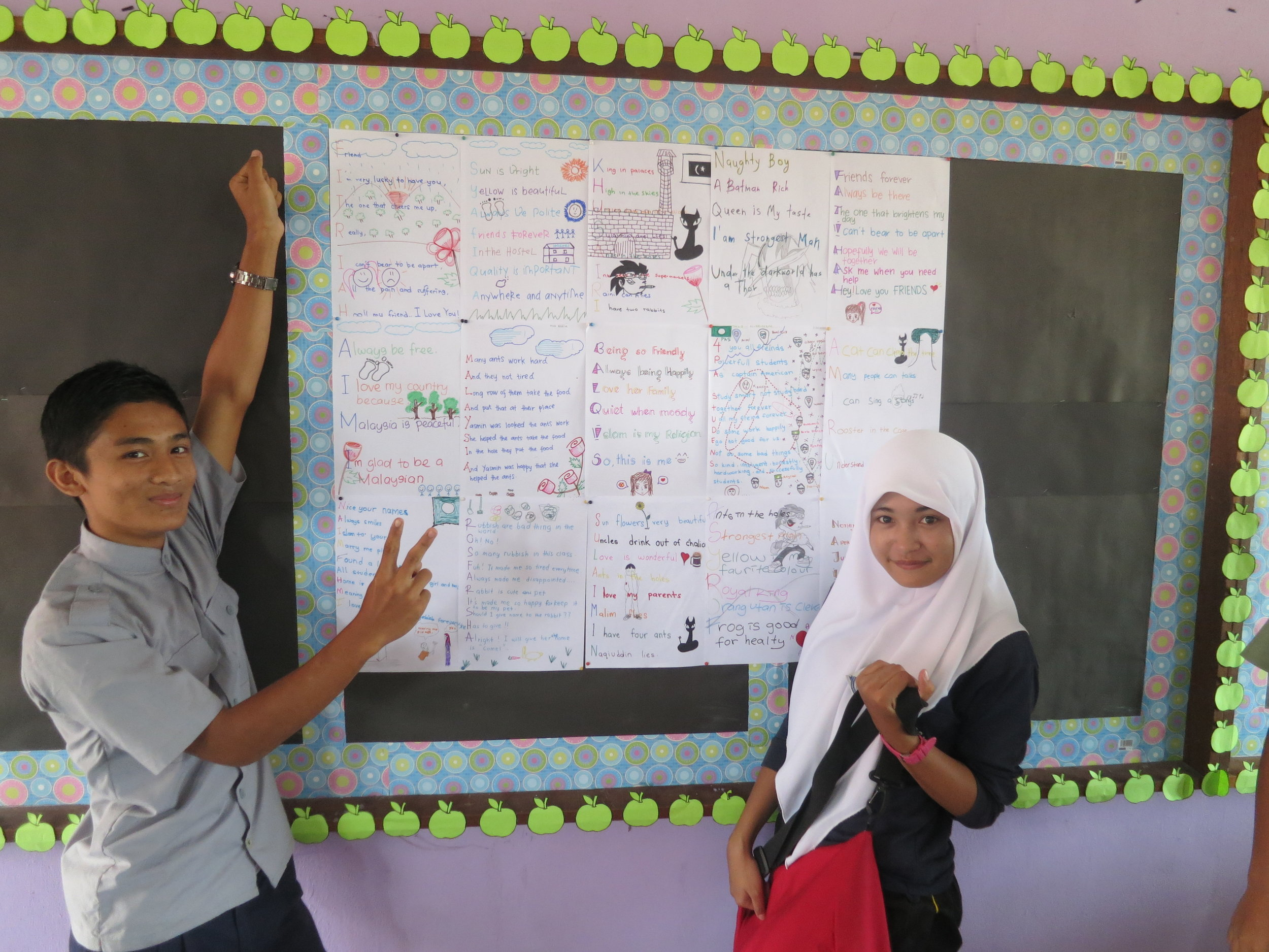 Projects from my Malaysian students, 2014