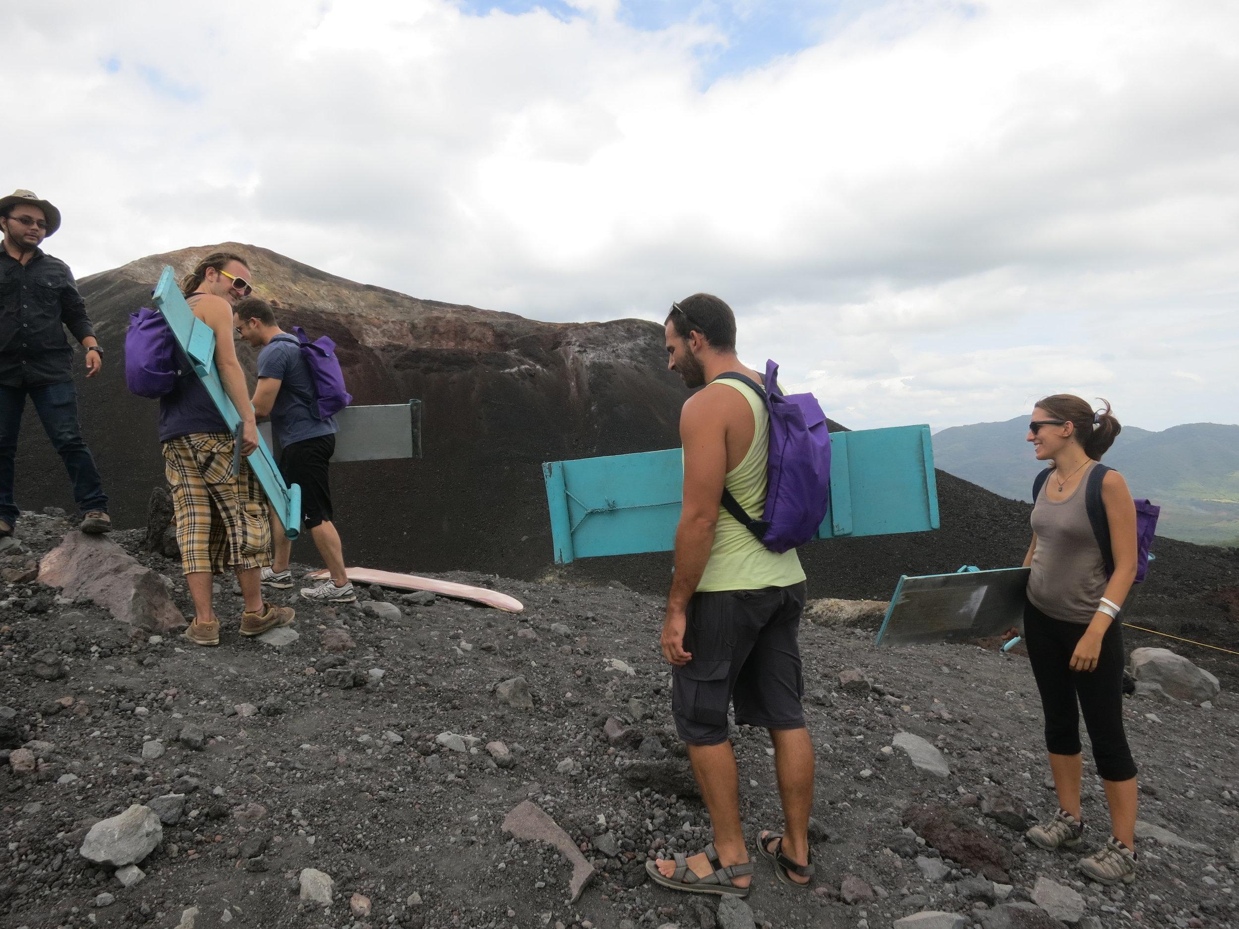 Volcano sandboarding, Nicaragua