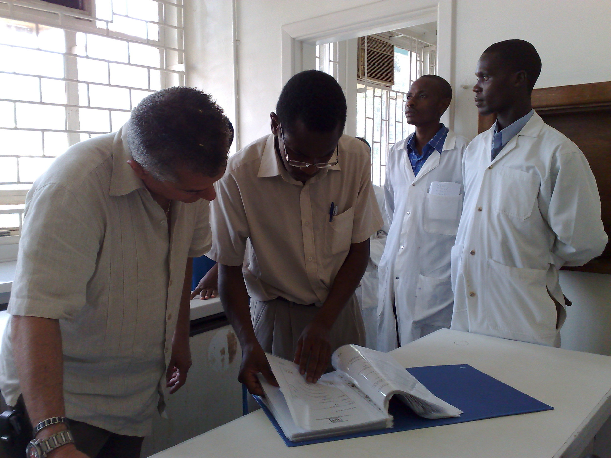 MICROBIOLOGY GRADUATE STUDENTS FROM MAKERERE UNIVERSITY HAVE CARRIED OUT LABORATORY ASSESSMENTS ON 23 HOSPITAL LABORATORIES AROUND UGANDA.